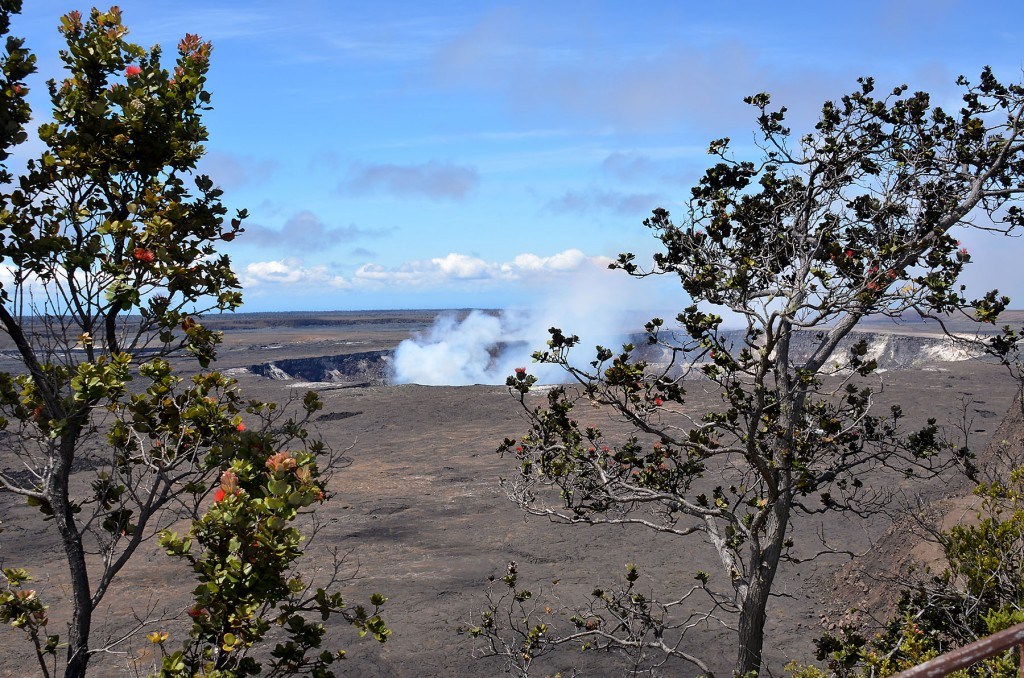 Smoldering crater on Mauna Loa